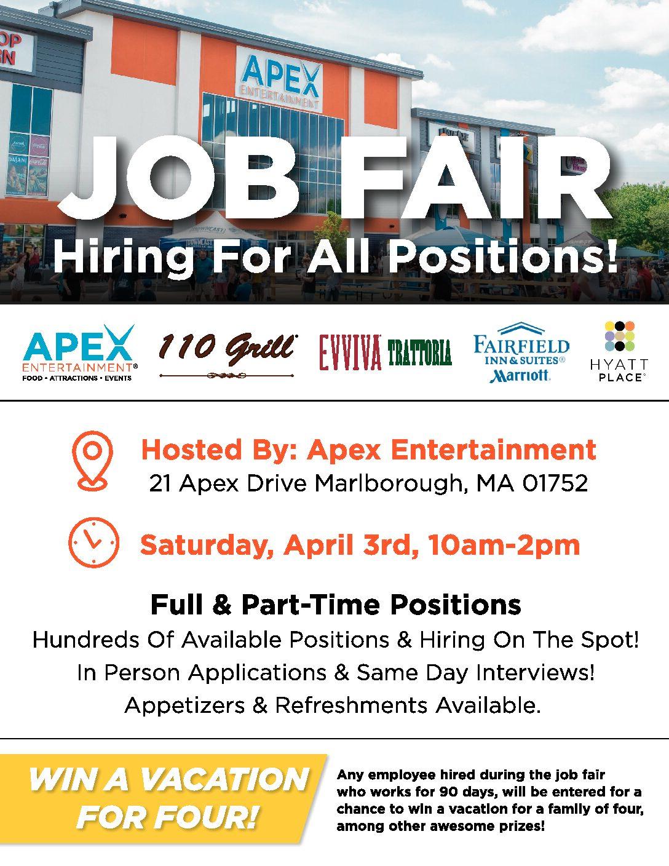 Apex Entertainment Job Fair